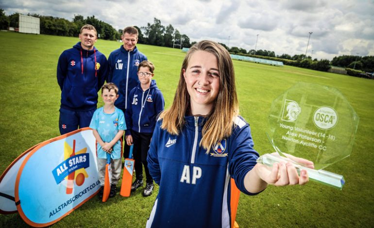 Young coach Alex is rewarded for her outstanding service to cricket