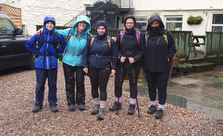 Wellbeing for Life team make a splash for the Three Peaks Challenge