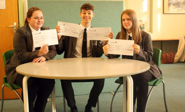 Students raise £500 for charities