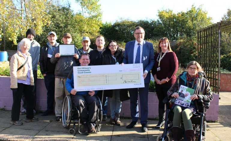 MP digs deep to support Aycliffe community garden