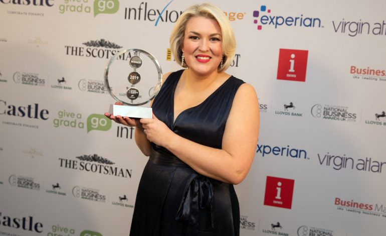 Sara Davies is honoured with national Outstanding Contribution award