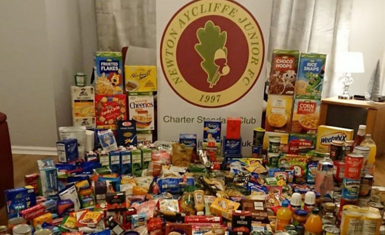 Youth teams collect for food banks