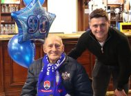 Aycliffe superfan celebrates 90th birthday