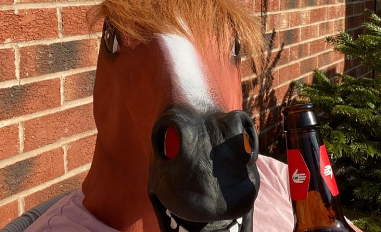 No horsing about as footy team raises £600 Covid charity cash