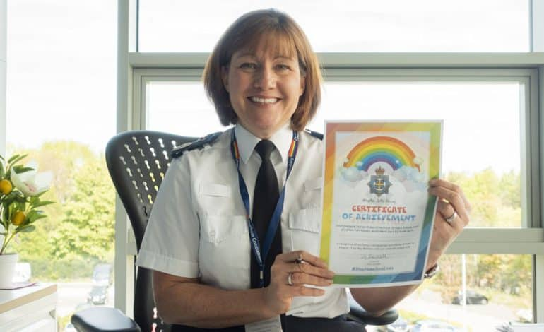 Police issue Certificates of Achievement to school pupils to thank them helping to keep people safe during lockdown