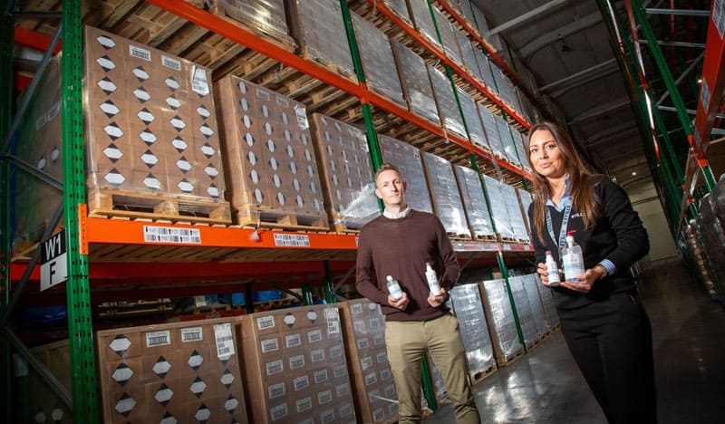Aycliffe logistics firm Stiller secures deal to distribute 27,000 gallons of INEOS Hygienics hand sanitiser gel