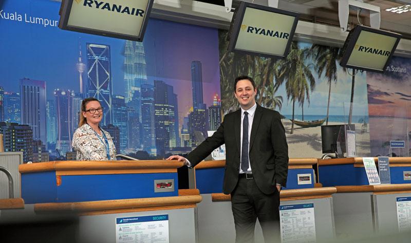 Ryanair flights return to Teesside Airport
