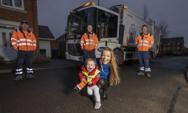 Bin crew makes special Christmas delivery on collection route