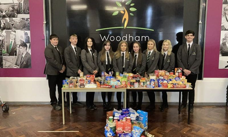 Aycliffe students organise Christmas foodbank