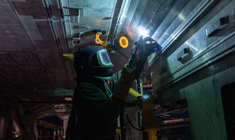 Hitachi Rail starts welding brand new British trains as investment in Aycliffe site tops £110m
