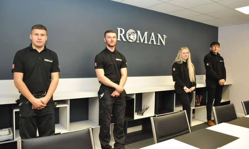 Roman recruits four apprentices