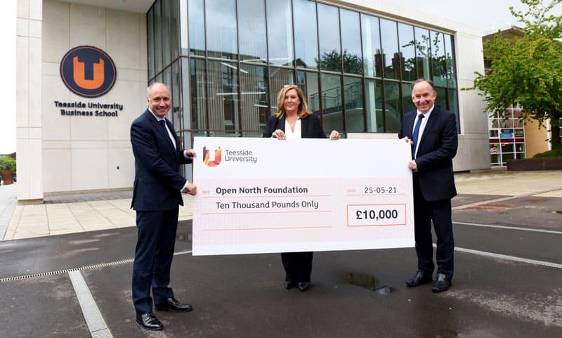 Teesside University donates £10,000 to business foundation