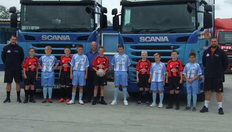 Aycliffe haulier sponsors junior football team