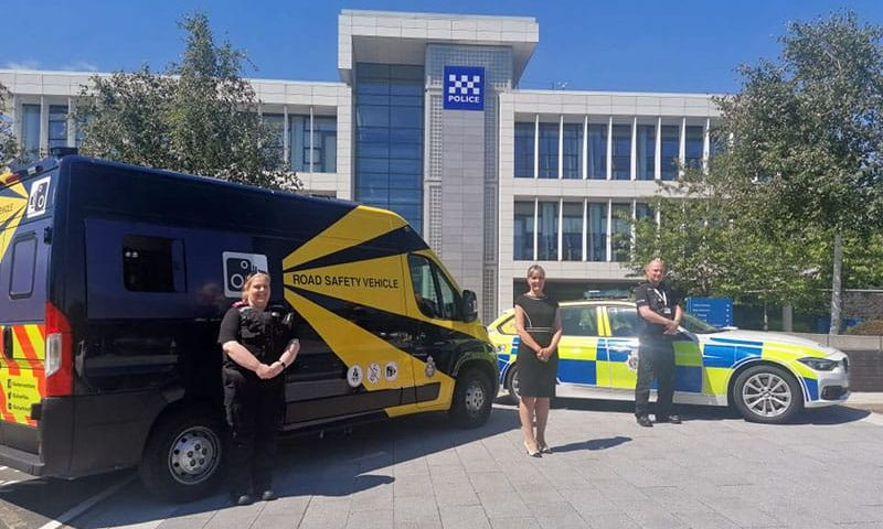 Force's new safety vans to catch careless drivers