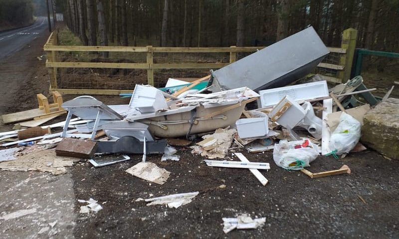Thousand pound fine for Shildon man's involvement in fly-tipping offence