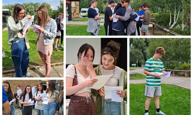 Greenfield students celebrate top marks