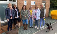 Charity staff putting their best feet forward for World Mental Health Day