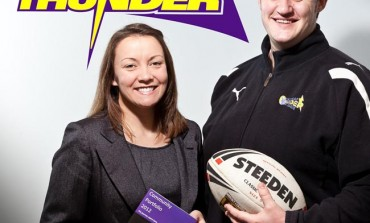 AYCLIFFE FIRM 'TEAMS UP' WITH RUGBY CLUB