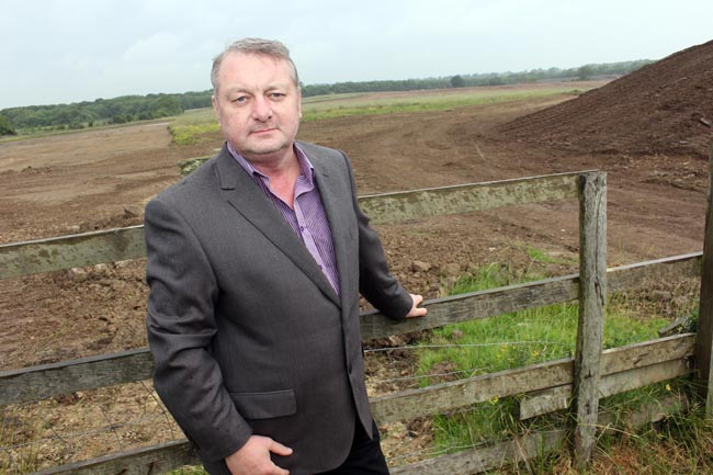 Aycliffe Fabrications MD Dave Spensley on Merchant Park site July 2013 1