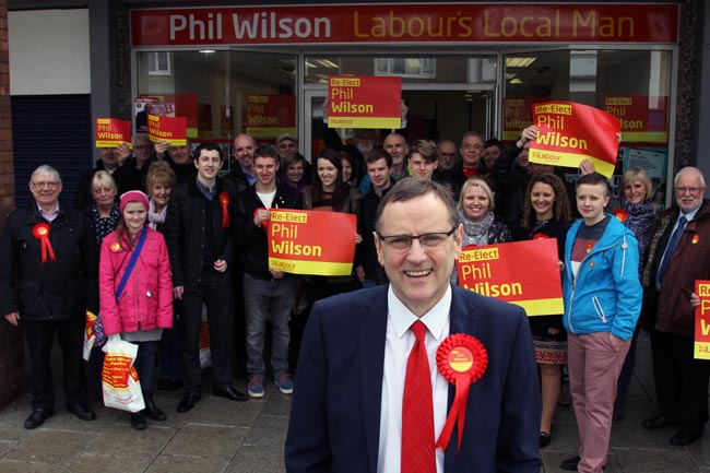 phil wilson campaign launch 2015