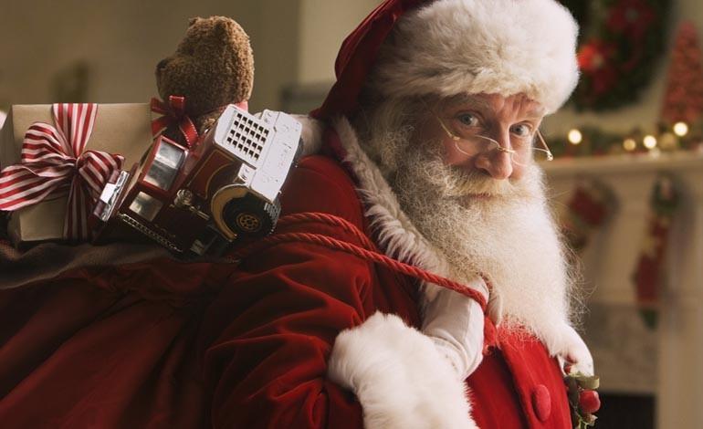 Santa's Christmas Eve route around Aycliffe