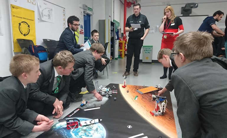 Aycliffe students take part in Robotics day at Caterpillar