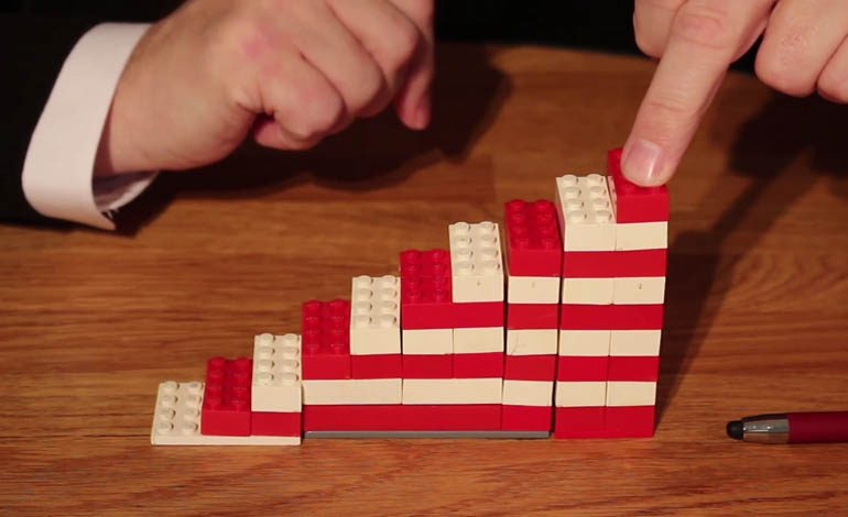 John Clare illustrates £1.5bn council cuts – using Lego!