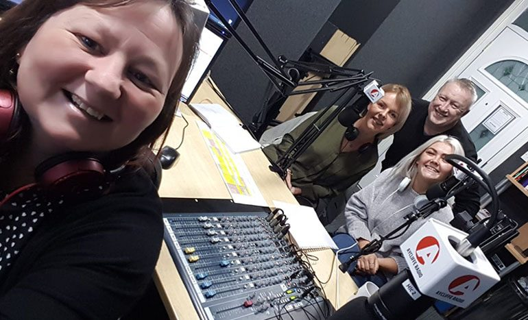 Hospice volunteers feature on Aycliffe Radio