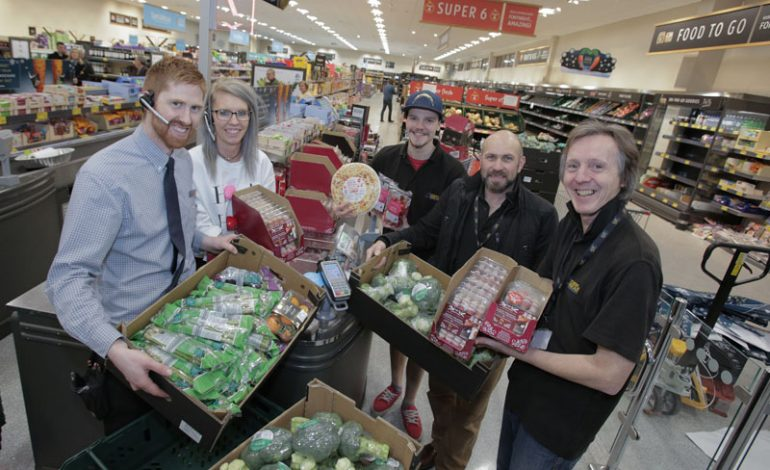 Aldi's Aycliffe store launches partnership with local charities