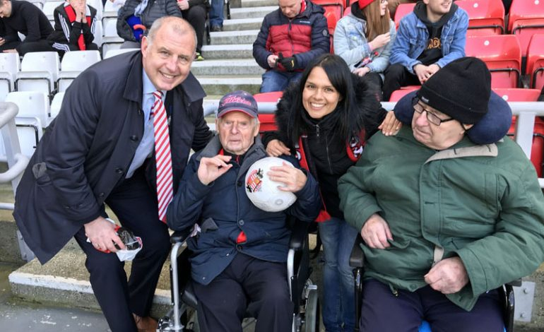 Aycliffe care home makes football fan's wish comes true