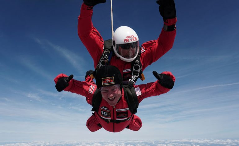 Durham Chief Constable takes leap of faith for charity