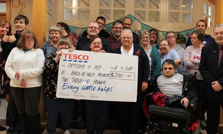 Every little helps as Tesco scheme raises £2,000 for PCP's Options