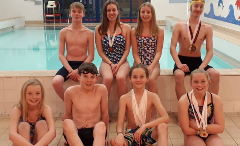 Eight Sedgefield swimmers rack up 26 medals
