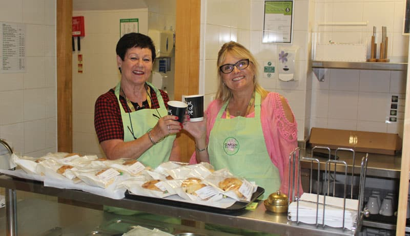 Volunteering is a recipe for success for community café!